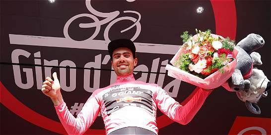 Tom Dumoulin 'encantado' de recuperar el liderato del Giro