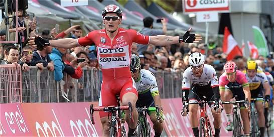 Andre Greipel, el dueño de los embalajes en el Giro: ganó la etapa 12