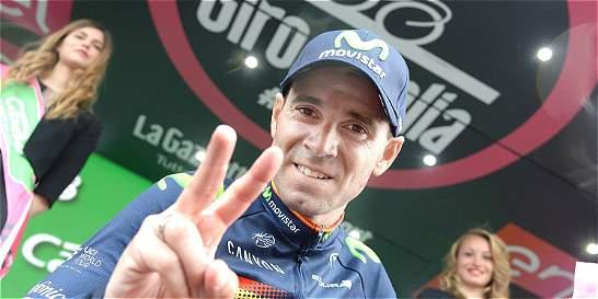 'Voy a ir a por todas; estoy en el Giro para intentarlo': Valverde
