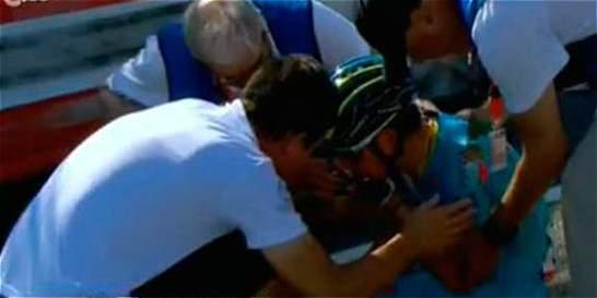 Miguel Ángel López sufrió un traumatismo facial, a causa de su caída