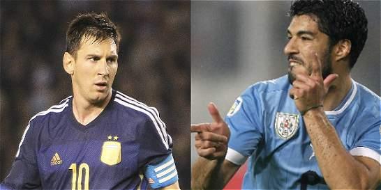 Messi y Suárez, los líderes del clásico Argentina - Uruguay