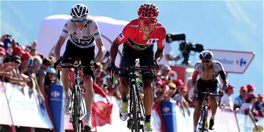 Froome soportó ataques de Quintana en la montaña