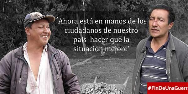 El testimonio de dos desplazados que esperan la paz