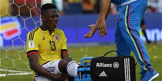Yerry Mina no viajó a Argentina por una molestia muscular