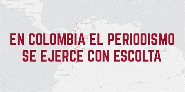 En Colombia el periodismo se ejerce con escolta