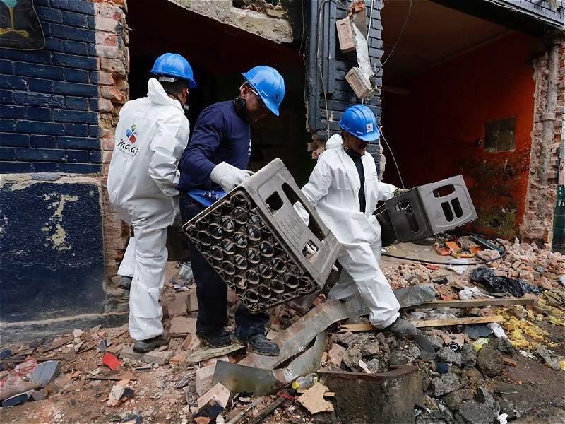 Así arrancó la demolición del 'Bronx' de Bogotá