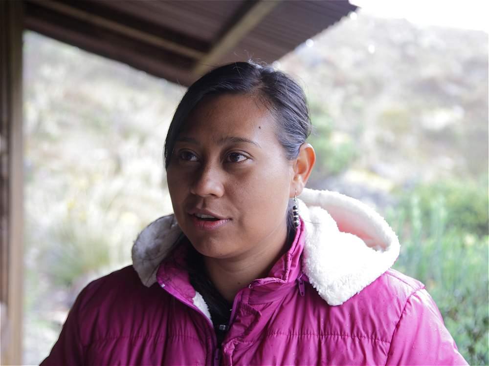 Claudia Milena Tegría, miembro de la guardia indígena u'wa.