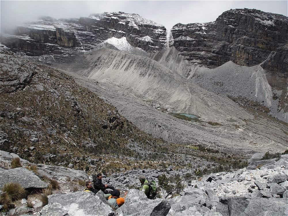 Las impresionantes morrenas son señal del derretimiento glaciar.