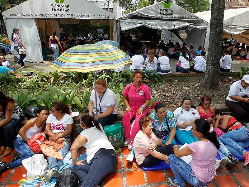 Estas fueron las protestas de las madres comunitarias en el país