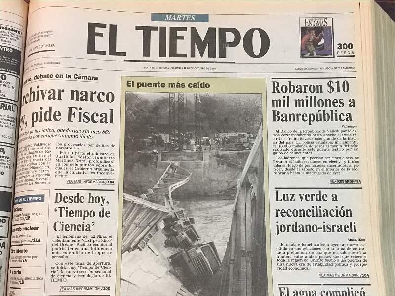 Así registró EL TIEMPO el robo al Banco de la República