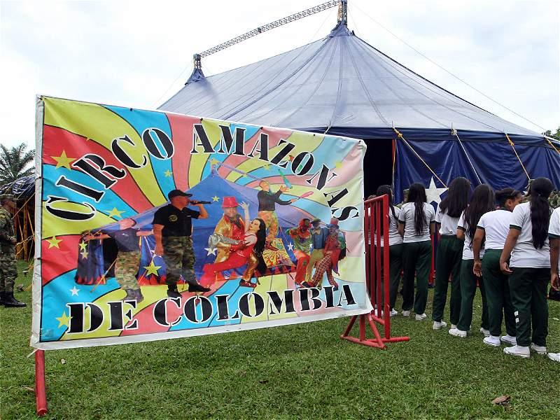 Así es el Circo Amazonas, un proyecto del Ejército Nacional
