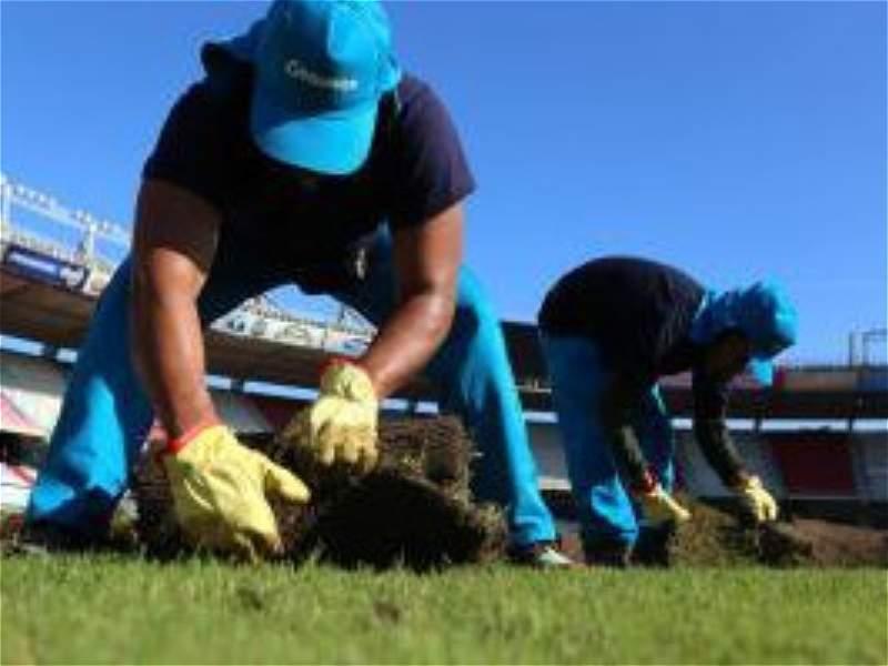 Comenzó la instalación del nuevo gramado en el estadio Metropolitano