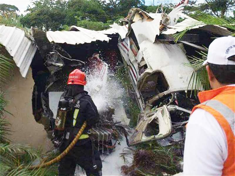 Así fue el accidente de aeronave que transportaba valores en El Cairo, Meta