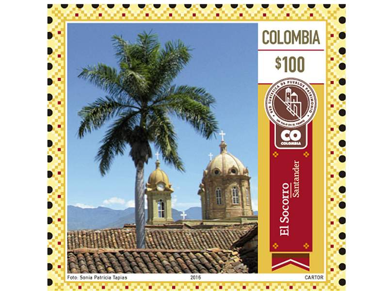 Los pueblos más bonitos de Colombia, ahora en estampillas