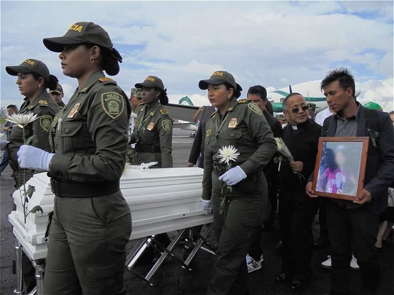 En Popayán rindieron tributo a niña asesinada en Bogotá