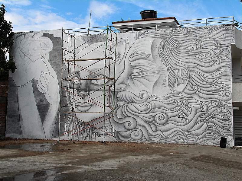 El mural más grande del mundo hecho a lápiz está en Colombia
