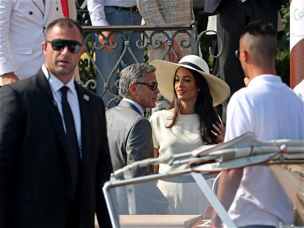fotos boda de george clooney y amal alamuddin galer a de fotos eltiempo com. Black Bedroom Furniture Sets. Home Design Ideas