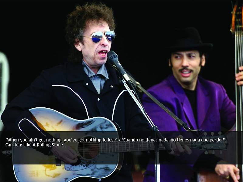 Frases inspiradoras de las letras de Bob Dylan