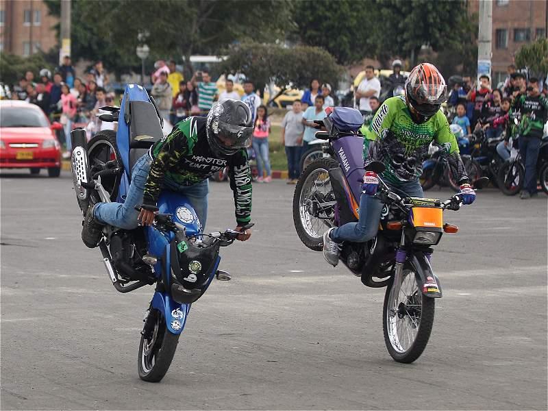 Acrobacia en motos, el plan del fin de semana en el sur de Bogotá