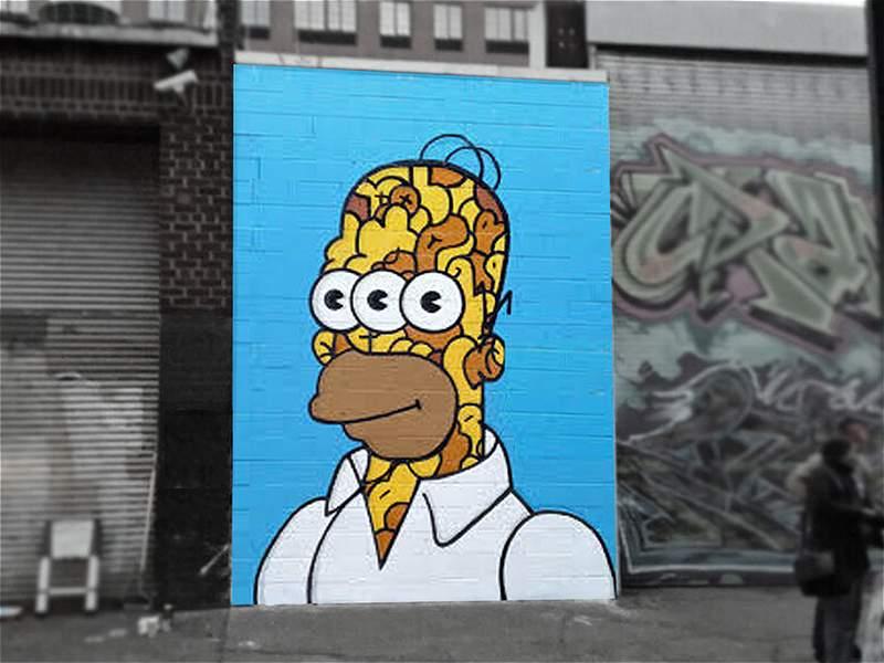 Las caricaturas que 'viven' en los muros de Nueva York
