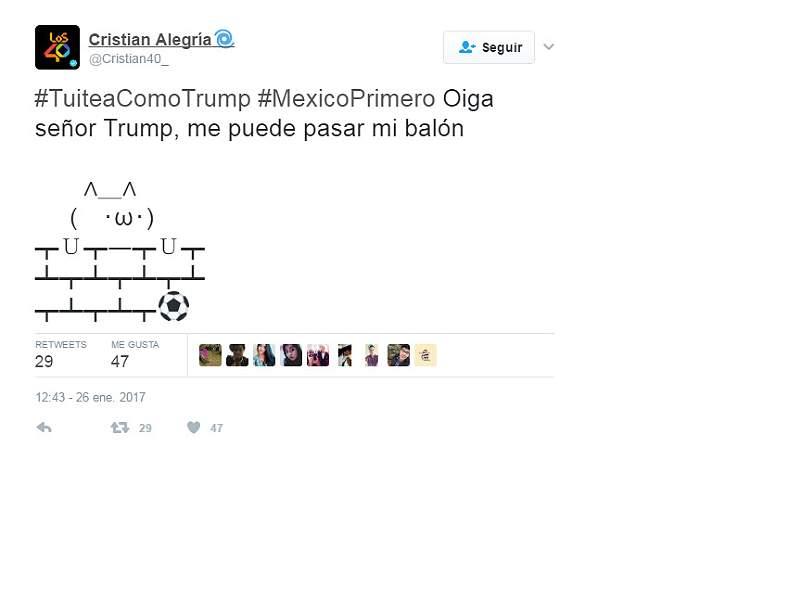 Así se burlan usuarios en Twitter sobre el polémico muro de Trump