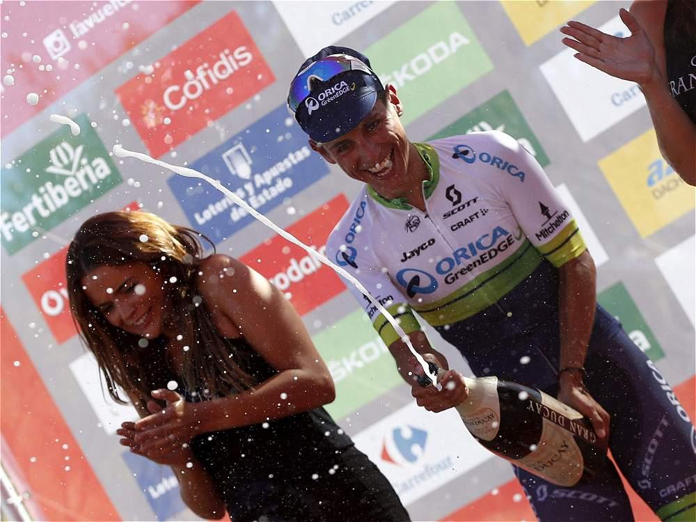 Esteban Chaves, líder de la Vuelta a España