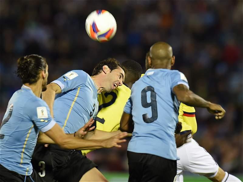 En fotos: las jugadas más destacadas del partido entre Uruguay y Colombia