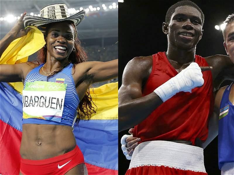 Colombia celebró medalla de oro y plata de Ibargüen y Yuberjen en los Olímpicos de Río 2016