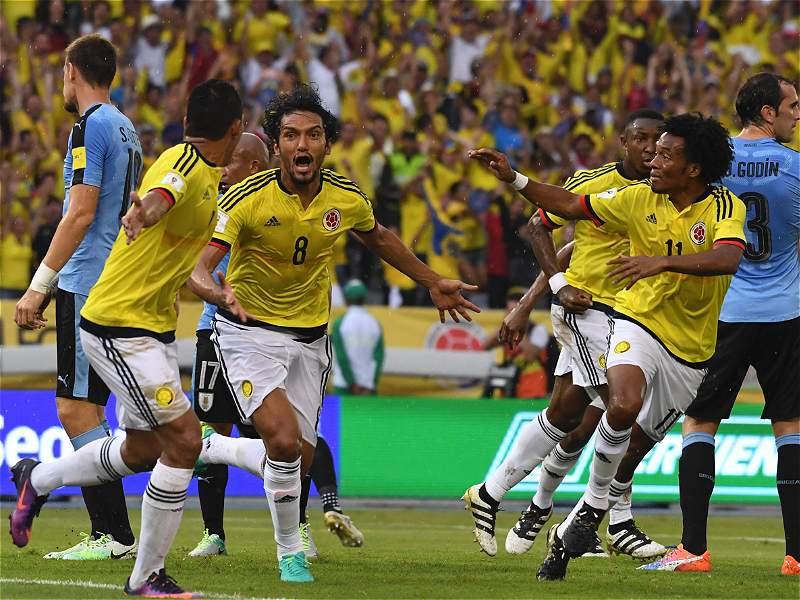 Vea las mejores imágenes del partido Colombia vs. Uruguay