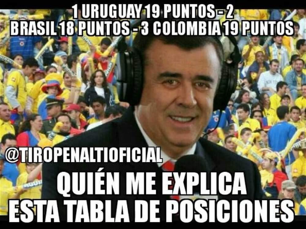 Memes que deja el partido de Colombia vs. Uruguay
