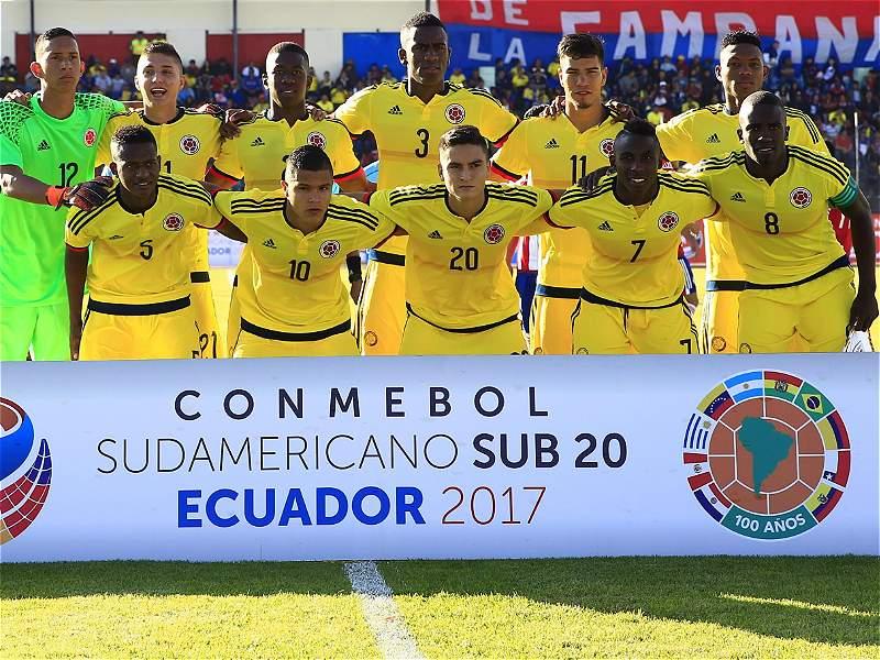 Las mejores imágenes del 1-1 de Colombia contra Paraguay en el Sub-20