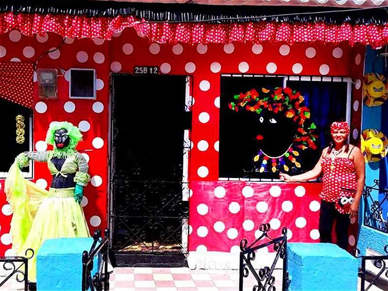 Las mejores fachadas de casas carnavaleras en Barranquilla