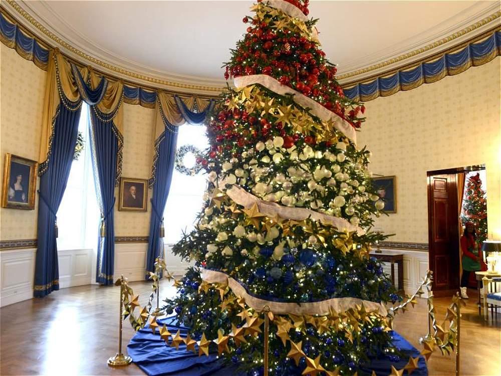 Fotos decoraci n de navidad en la casa blanca galer a - Arbol navidad casa ...