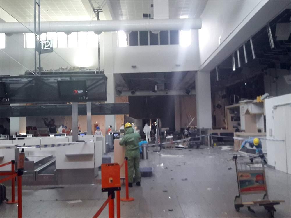 Así quedó el aeropuerto de Bruselas después del ataque terrorista