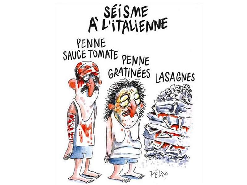 'Charlie Hebdo' de nuevo es noticia por portada dedicada a terremoto en Italia