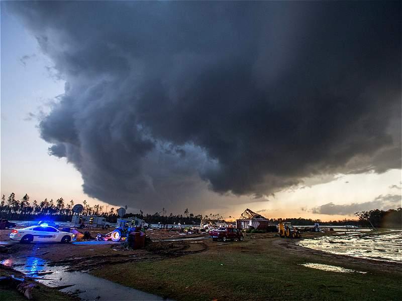 El desolador panorama tras tormentas que golpearon el sur de los Estados Unidos