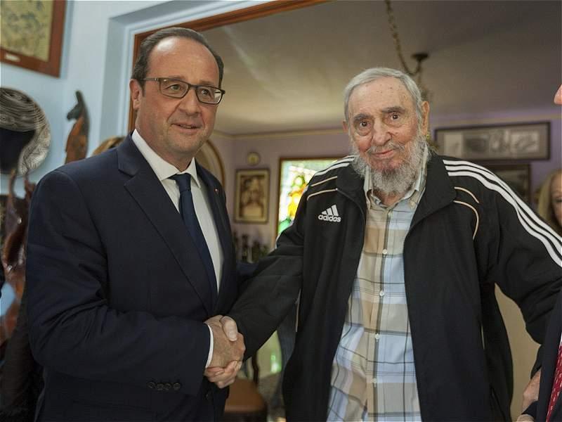 La reaparición de Fidel Castro, en reunión con presidente de Francia