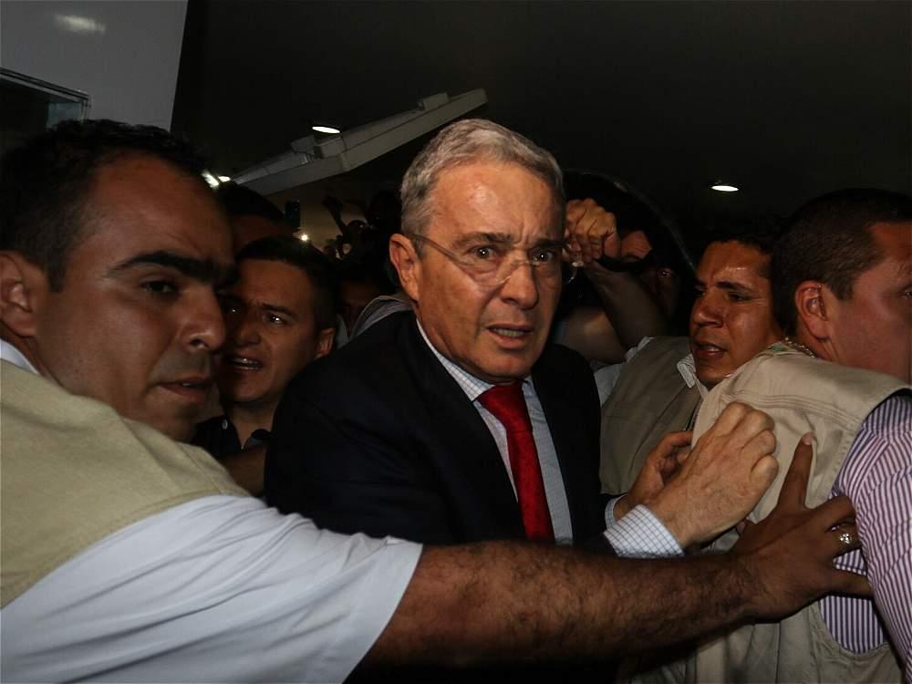 Momentos de angustia vivió Álvaro Uribe en la Universidad Libre de Pereira