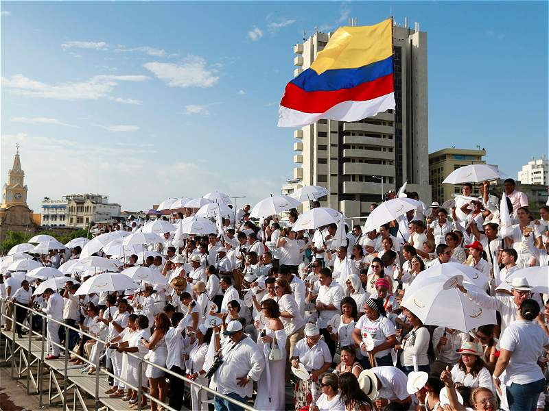 Cartagena se vistió de blanco para celebrar la firma de la paz