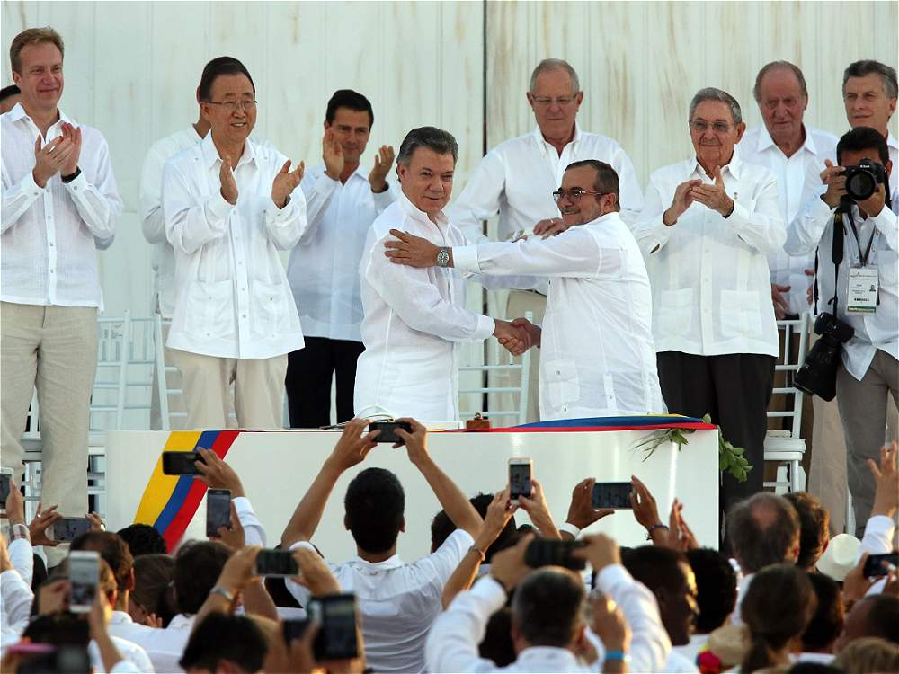 Firma de la paz en Cartagena