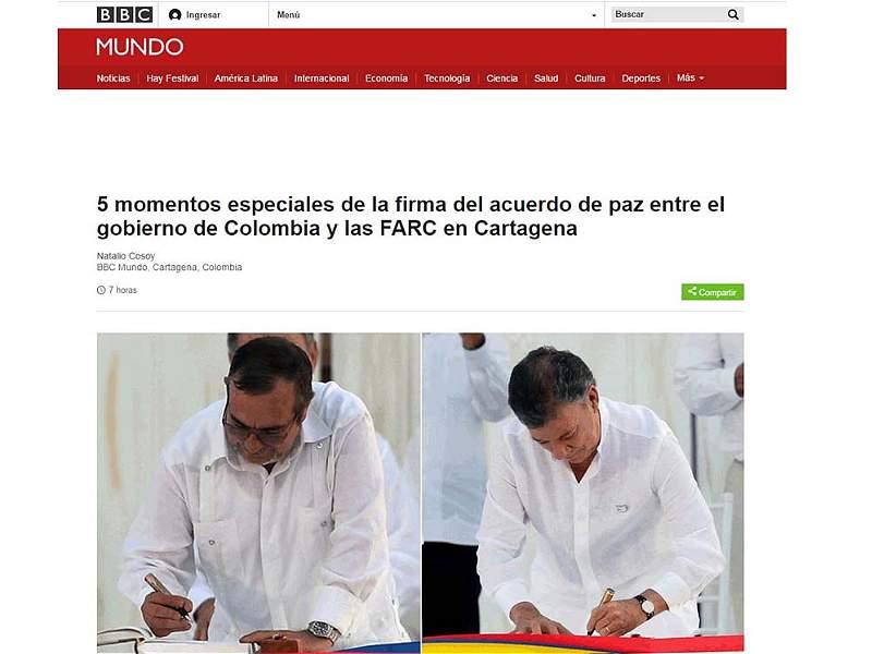 Así registraron los medios del mundo la firma del fin del Acuerdo de Paz entre el Gobierno y las Farc