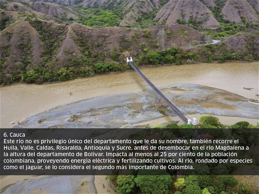 11 ríos de Colombia vistos desde el aire