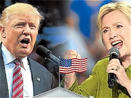 Hillary Clinton logró poner a Donald Trump a la defensiva