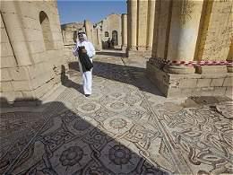 Palacio de Jericó en Palestina abre sus puertas para mostrar un gigantesco mosaico
