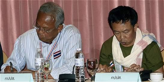 Primera reunión en Bangkok entre rivales políticos