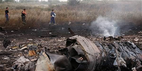 El avión cayó cerca del asentamiento de Grabovo en la región de Donetsk.