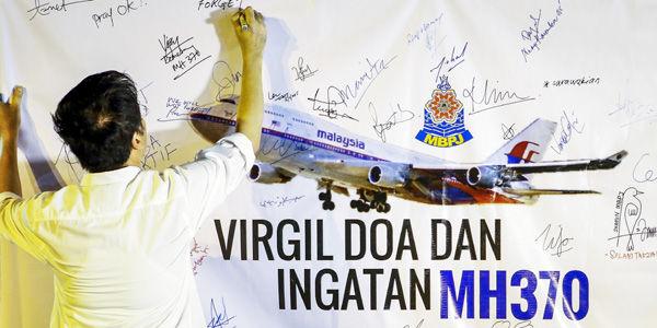 El vuelo MH370 de Malaysia Airlines desapareció en algún punto del océano Índico, con 239 personas a bordo, el 8 de marzo del 2014.