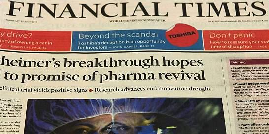 Pearson anuncia la venta del 'Financial Times' al grupo japonés Nikkei