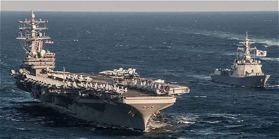 Cazas de EE. UU. interceptaron aviones rusos cerca de portaviones