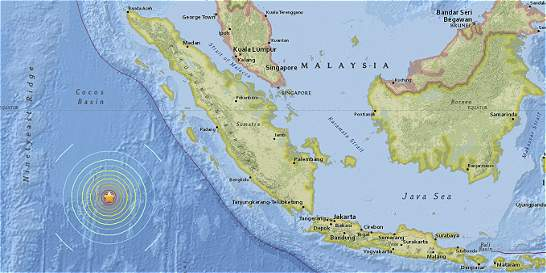 Un sismo de 7,9 grados sacude el mar al sur de Sumatra, en Indonesia